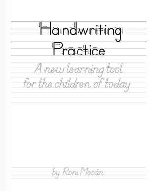 roni mocán | handwriting practice booklet |